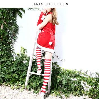 【サンタコスプレ激安】クリスマスコスプレコスチュームサンタコスサンタクロースサンタコスチュームレディースサンタコスプレサンタ衣装クリスマスコスプレセクシーパーティ大きいサイズサンタソックスサンタ靴下靴下ソックスレディースファッション