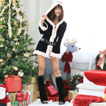 サンタコスプレ長袖サンタコスクリスマスコスチューム激安大きいサイズ衣装セクシーサンタクロースパーティサンタコスプレクリスマスコスプレサンタコスチューム赤レッド黒ブラックピンクブラックサンタパンツレッグウォーマーレディースファッション