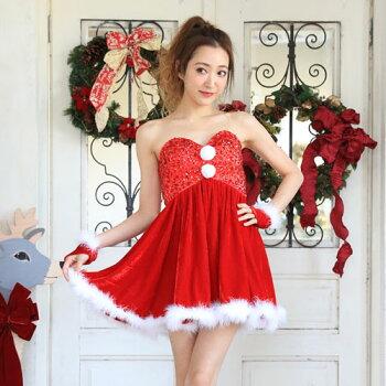 サンタコスプレサンタコス激安クリスマスサンタクロースコスチュームセクシーパーティ大きいサイズワンピースワンピドレスコス衣装サンタコスプレセクシーサンタサンタコスチュームクリスマスコスプレ赤レッドピンクフレアレディースファッション冬