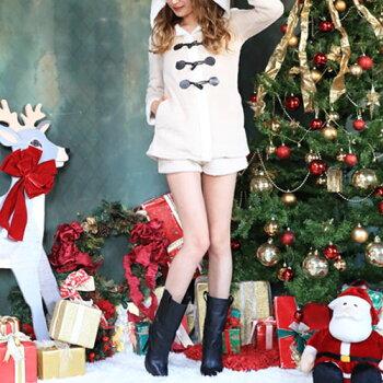 トナカイコスプレコスチューム衣装クリスマス着ぐるみコス激安長袖仮装トナカイコスプレトナカイコストナカイコスチュームクリスマスコスプレクリスマスコスチュームパーティセクシーサンタクロースサンタセットアップパンツ服レディースファッション