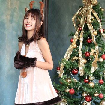 トナカイコスプレコスチューム衣装クリスマス着ぐるみコス激安半袖長袖トナカイコスプレトナカイコストナカイコスチュームクリスマスコスプレクリスマスコスチュームパーティセクシーサンタクロースサンタショートパンツパンツレディースファッション