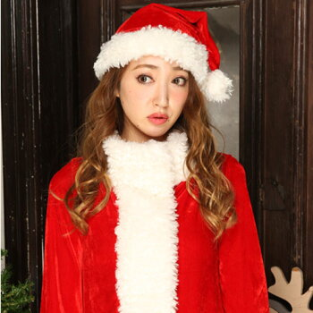 サンタコスプレサンタコス激安クリスマスサンタクロースコスチュームセクシーパーティ大きいサイズワンピースコス衣装長袖サンタコスプレセクシーサンタサンタコスチュームコートパンツショートパンツサンタ帽子赤レッド2016レディースファッション