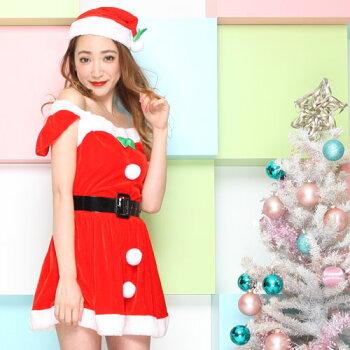 サンタコスプレ激安サンタコス衣装コスクリスマスコスチューム大きいサイズセクシーサンタクロースパーティワンピースワンピドレスサンタコスプレサンタ衣装サンタ帽子帽子サンタ帽ミニスカサンタ赤レッド2016レディースレディースファッション冬