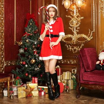 サンタコスプレ激安サンタコスコスチュームクリスマスセクシーサンタクロースパーティ衣装大きいサイズコスサンタコスプレ半袖長袖ワンピースレディースサンタ帽子パーティー・イベント用品・販促品コスプレ・変装・仮装レディースサンタクロース2016