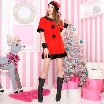 サンタコスプレ激安サンタコスクリスマスコスチューム大きいサイズ衣装コスセクシーサンタクロースパーティサンタ帽子帽子仮装ワンピースワンピドレスサンタコスプレサンタコスチュームミニスカサンタ赤レッド2016レディースレディースファッション