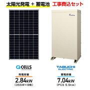 Qセルズ太陽光発電システムQ.PEAKDUO-G6355+田淵電機EIBS77.04kwPCS5.5k