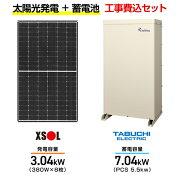 エクソル太陽光発電システムXLM120-380L-XQB+田淵電機EIBS77.04kwPCS5.5k