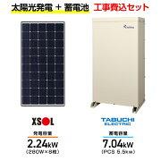 エクソル太陽光発電システムXLM50-280L-XMB+田淵電機EIBS77.04kwPCS5.5k