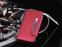 iPhone5専用レザーケース財布型1