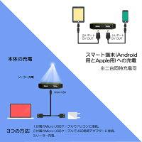 ソーラーモバイルバッテリー充電器大容量10000mAh3