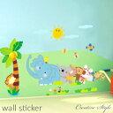 ウォールステッカー 子供部屋 森の動物仲間 誕生日 壁飾り 動物 インテリア シール diy 壁紙 シール 絵...
