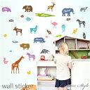 ウォールステッカー Animal English 子供部屋 動物 誕生日 壁飾り wallsticker diy 壁紙 シール 可愛い ...