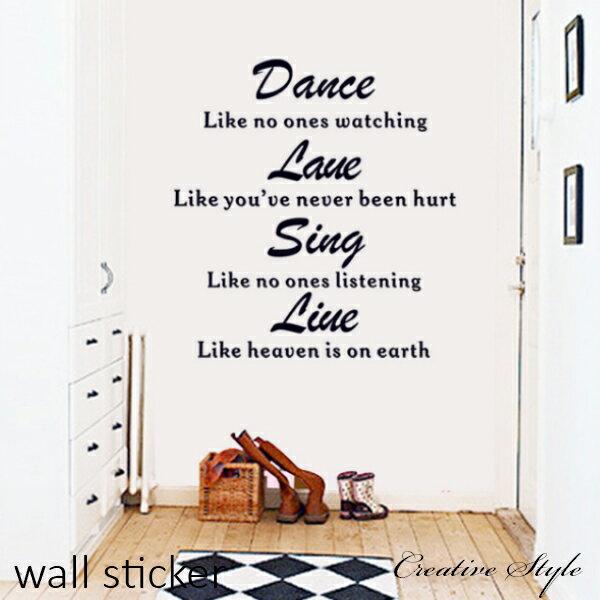 壁紙・装飾フィルム, ウォールステッカー・シール  Dance Love Sing Live) Creative Style