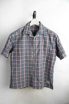 ウールリッチ WOOLRICH 開衿 オープンカラー ボックス型 半袖シャツ【L】【古着】【中古】【メンズ】【レディース】【ヴィンテージ】 【ビンテージ】【レトロ古着】