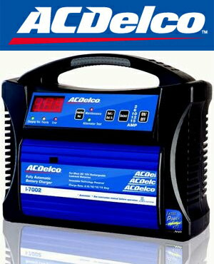 AC DELCO ACデルコ AD-0002 フルオートバッテリー充電器 全自動充電 起動 4ステージパルス充電&サ...