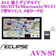 イクリプス AVN-S7 通信ユニット同梱 フルセグ地デジ/SD/DVD/Bluetooth/Wi-Fi内蔵 2DIN AV一体型メモリーナビ