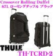 THULE TCRD-2 Crossover Rolling Duffel 87L ブラック スーリー クロスオーバー キャリーバッグ ローリングダッフル【74cm×44cm×42cm 重量4.2kg】