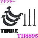 【送料無料※沖縄除く】THULE(スーリー) VW ゴルフワゴン・ヴァリアント用ベースキャリア(ウイングバーエッジ9584)+スキーキャリア スノーパック7324B ブラック 50cm幅 AUC#