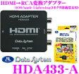 データシステム HDA433-A HDMI→RCA変換アダプター 【iOS:Apple Lightningコネクタ搭載端末用接続ケーブル/2ポートシガー電源アダプター同梱】