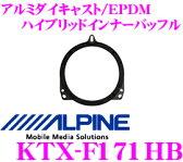 アルパイン KTX-F171HB 高剛性アルミダイキャスト/EPDM ハイブリッド高音質インナーバッフルボード 【スバル車用】