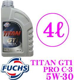 【送料無料!!カードOK!!】FUCHS★フックス TITAN GT1 PRO C-3 XTL 100%化学合成エンジンオイル ...