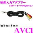 Beat-Sonic ビートソニック AVC1 映像入力アダプター 【純正ナビにビデオ入力ができる!!】 【トヨタ レクサス 日産 マツダ トヨタ ダイハツディーラーオプション等】