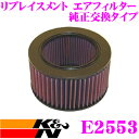 K&N 純正交換フィルター E-2553 ローバー ミニ用リプレイスメント ビルトインエアフィルター 純正品番13780-83000対応