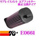 K&N 純正交換フィルター E-0661メルセデスベンツ 176052 A-クラス 176用などリプレイスメント ビルトインエアフィルター純正品番A1330940104対応