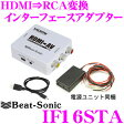 【本商品エントリーでポイント9倍!!】Beat-Sonic ビートソニック IF16STA HDMI→RCA変換アダプター 【スマホ/iPhone/iPad対応】 【IF16ST後継品】