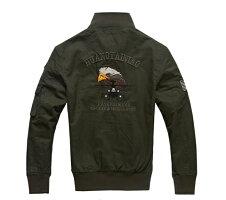 ライダースJKTメンズミリタリーJKTミリタリージャケットジップアップ長袖大きいサイズアウターブルゾンアウターミリタリーバイクウェアフライトジャケット