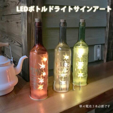 KEYSTONEボトルドライトサインアート(グリーン・バーガンディ・ブラック)ボトル型LEDライト