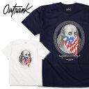 【L〜3XL】 OUTRANK Tシャツ 【 BENJAMIN FLAG 】 Tシャツ ベンジャミン 星条旗 USフラッグ ドル札 紙幣 「ビッグサイズあり」 HIPHOP ヒップホップ アメリカン ストリート STREET TEE メンズ 大きいサイズ