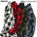 ABLANCHE フランネル チェックシャツ ネルシャツ 長袖 ブロックチェック 大きいサイズ メンズ チェック柄 ...