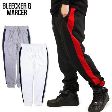 【M〜3XL】BLEECKER & MARCER 【90's ラインパンツ】 スウェットジョガーパンツ 暖かフリース スエット トラックパンツ JOGGER PANTS ブリーカー マーサー 90年代 HIPHOP メンズ 大きいサイズ ビッグサイズ M L LL 2L 3L 4L 5L