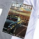 【L〜3XL】プリント Tシャツ 【 WESTCOAST Style CHASE YOUR VISION 】 ヘビーウェイト LA 西海岸 カリフォルニア ロサンゼルス アメ車 ローライダー チカーノ WESTCOAST CALIFORNIA ウェッサイ ヒップホップ ビッグサイズ アメリカン メンズ 大きいサイズ 【メール便可】