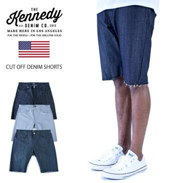 (在庫28in〜34in) KENNEDY デニム ショート パンツ【Made in USA】 ケネディ DENIM SHORT PANTS カットオフ オシャレ ショーパン DENIM シンプル ストリート USサイズ メンズ 大きいサイズ L LL 2L 3L 4L 5L