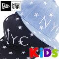 NEWERAニューエラKIDSキャップ【Youth9FIFTYスターズNYC】星キッズ子供用スナップバックキャップフリーサイズ子供サイズキッズダンサー帽子黒サイズ調整可KIDSNEWERAKids1147445511474456