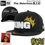 完全別注モデルNEWERA59FIFTYCAP【KING】【BLACK×WHITE】ニューエラキャップフィフティーナインフィフティービギークラウンMissyou大きいサイズメンズ帽子レディース帽子UVカット