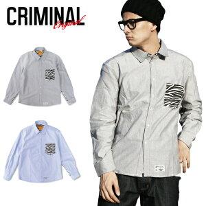 CRIMINALORIGINALPRINTLONGSHIRTS【ANIMAL】クリミナルオリジナルプリントシャツ長袖【ZEBRA柄】【LEOPARD柄】アニマル柄コットンシャツシンプルUSサイズメンズ大きいサイズLLL2L3L4L5L