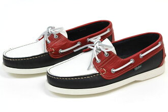 Paraboot shoes deck bath tricolor ( Paraboot BARTH BLANCHE-NAVY/BLANC/CERISE ) 10P28oct13