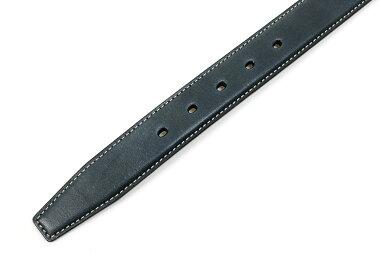 42NDロイヤルハイランドアンティークフィニッシュカーフベルト32mmブルー(42NDROYALHIGHLANDKB04-32BLUE)