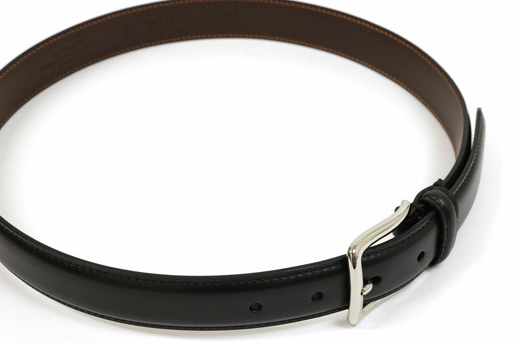 ウィールローブ オリジナルドレスベルト クロムエクセル ブラック (WHEEL ROBE ORIGINAL DRESS BELT 30mm BLACK)