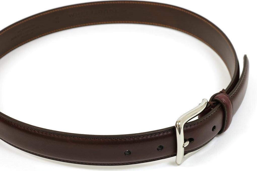 ウィールローブ オリジナルドレスベルト クロムエクセル バーガンディ (WHEEL ROBE ORIGINAL DRESS BELT 30mm BURGUNDY)