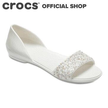 【クロックス公式】リナ エンベリッシュド ドルセー ウィメン Lina Embellished D'Orsay Flat / crocs パンプス フラットシューズ レディース 【PR1】