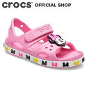 【クロックス公式】クロックス ファン ラブ クロックバンド ディズニー 「ミニーマウス」 サンダル キッズ CrocsFLCBDisneyMinnieMouseSdlK / crocs【NO】