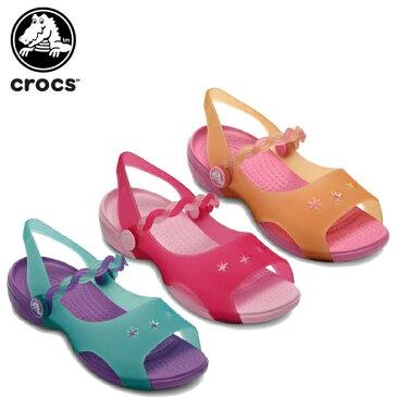 クロックス(crocs) エメリナ サンダル ガールズ(Emelina Sandal Girls) /キッズ/サンダル/シューズ/子供用[r][C/A]【40】