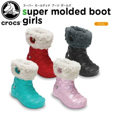 【50%OFF】クロックス(crocs) スーパー モールデッド ブーツ ガールズ(super molded boot girls) /キッズ/ブーツ/シューズ/子供用[r][C/B]【ポイント10倍対象外】