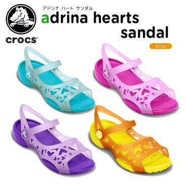 クロックス(crocs) アドリナ ハート サンダル(adrina hearts sandal)/キッズ/サンダル/シューズ/子供用[r][C/A]【40】