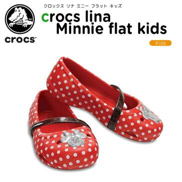【30%OFF】クロックス(crocs) クロックス リナ ミニー フラット キッズ(crocs lina Minnie flat kids)/キッズ/サンダル/シューズ/子供用[r][C/A]