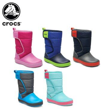 【10%OFF】クロックス(crocs) ロッジポイント スノー ブーツ キッズ(lodgepoint snow boot k) /キッズ/ブーツ/シューズ/子供用[r][C/B]【ポイント10倍対象外】
